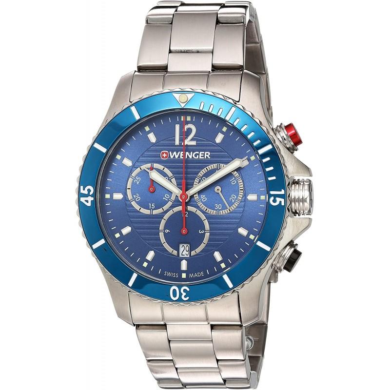 """01.0643.115  кварцевые наручные часы Wenger """"Seaforce""""  01.0643.115"""